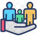 Customer Support Human Care Family Insurance Icon