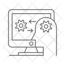 Human Computer Interaction Human Vs Ai Board Game Icon