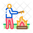 Human Cooking Camp Icon