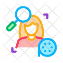 Research Woman Video Icon