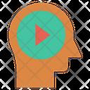 Human Head Thinking Mind Icon