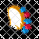 Human Head Arrows Icon