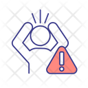 Human In Panic Attack Icon