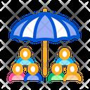 Human Protect Umbrella Icon