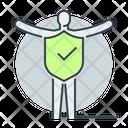 Human Insurance Human Shield Man Protection Icon