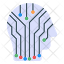 Artificial Human Data Head Human Technology Icon