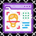 Deepfake Online Scanner Icon