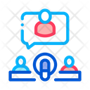 Host Microphone Person Icon