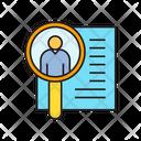 Human Resource Job Application Recruitment Icon
