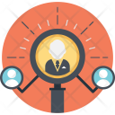 Human Resource Find Icon