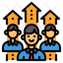 Human Resources Recruitment Networking Icon