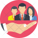 Team Employees Hand Icon
