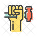 Rights Hand Hammer Icon