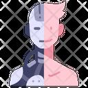 Human Robot Ai Icon