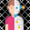 Human Robot Robot Human Icon