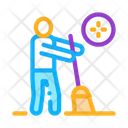 Human Sweeping Icon