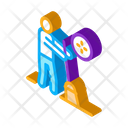 Human Sweeping Cleaning Icon
