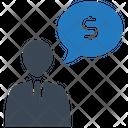 Human Talk Money Icon