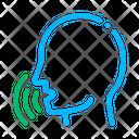 Human Voice Control Icon