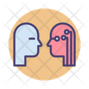 Human Vs Ai Human Artifical Intelligence Icon
