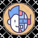 Humanoid Android Cybord Icon