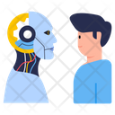 Bionic Man Humanoid Cyborg Icon