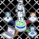 Humanoid Robot Robot Mechanical Man Icon