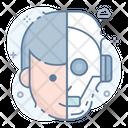 Humanoid Robot Icon
