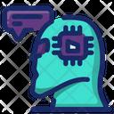 Humanoid Robot Mechanical Man Artificial Intelligence Icon
