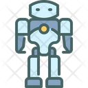 Humanoid Futuristic Machine Icon