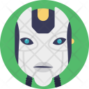 Humanoid Robot Face Icon