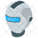 Humanoid Robot Head Icon