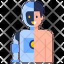 Bionic Man Humanoid Technology Cyborg Icon
