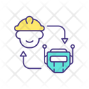 Humans And AI Working Together Icon