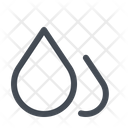 Humidity Drops Water Icon
