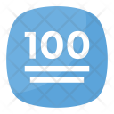 100 Points Symbol Icon