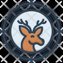 Hunt Deer Antler Icon