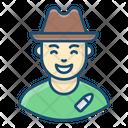 Hunter Cowboy Wild West Icon