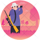 Hunting Hunter Hunter With Spyglass Icon
