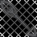 Hunting Arrow Archery Arrow Hitting Arrow Icon
