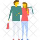 Husband and Wife Shopping Icon