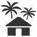 Hut Resort Tropical House Icon