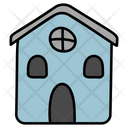 Hut Chalet Halloween House Icon