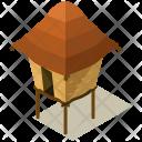 Small Hut Isometric Icon