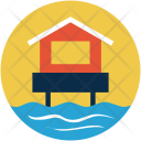 Hut Over Water Icon