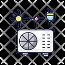 Hybrid Air Conditioner Winter Summer Icon