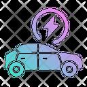 Hybrid Car Electric Car Charging Car Icon