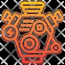 Hybrid Electric Motor Icon