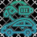 Hybrid Electric Vehicle Hev Car Icon