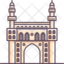 Hyderabad Charminar Monument Icon